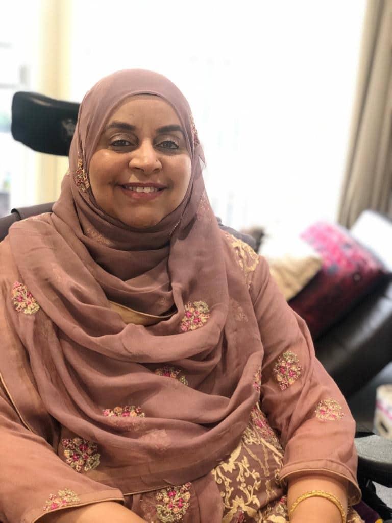 Zabun Nassar, MND Association, Diagnosed 2016, England
